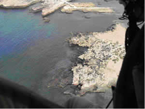 Continuous deposit off the coast of Tripoli in July 2006 (Source: French Navy)