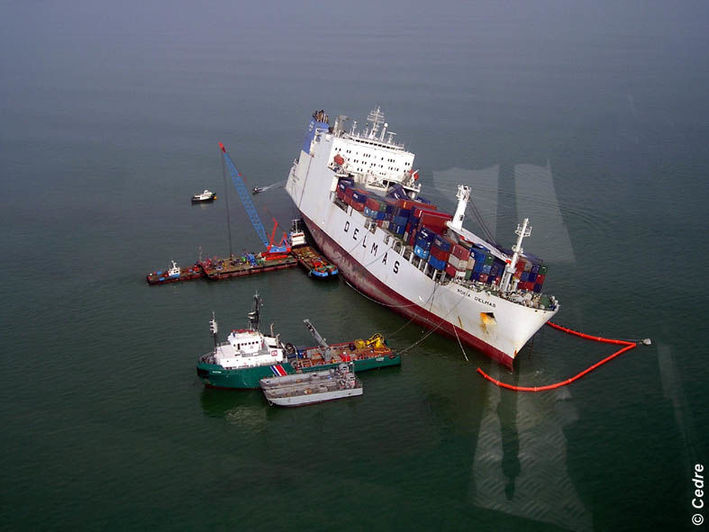 Aerial view of the Rokia Delmas grounded