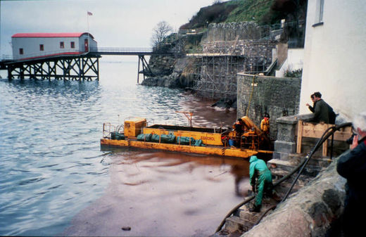 An Egmopol barge in Tenby harbour