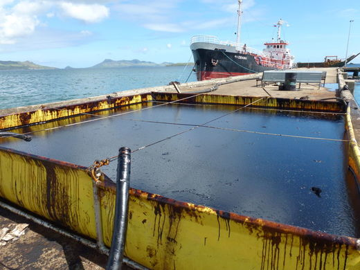Storing the recovered oil