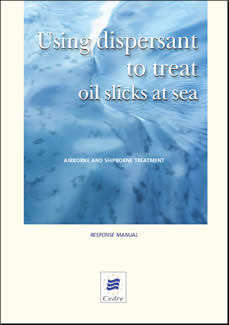 Using dispersant to treat oil slicks at sea - Airborne and shipborne treatment
