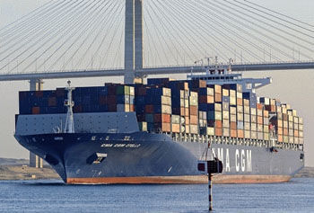 The container ship CMA CGM Otello