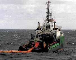Response operation at sea - Ailette