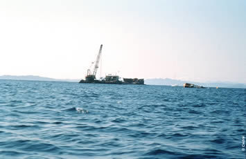 The removal of the Fenes wreck