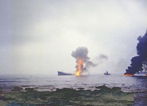 Jakob Maersk in fire