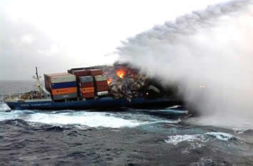 Fire aboard the MOL Comfort.