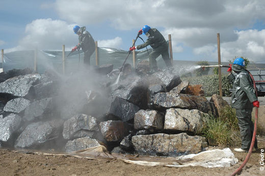 Practical riprap clean-up exercise
