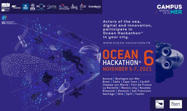 Affiche Ocean Hackhathon 2021