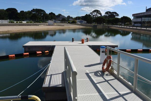 Installation reproduisant une zone portuaire