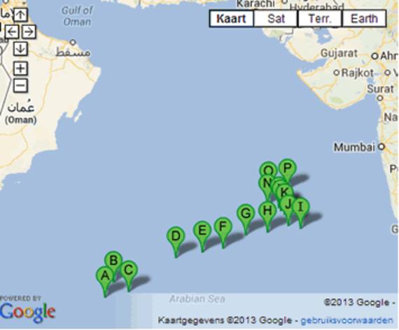 Dérive de la partie avant du navire qui finit par sombrer le 10 juillet 2013