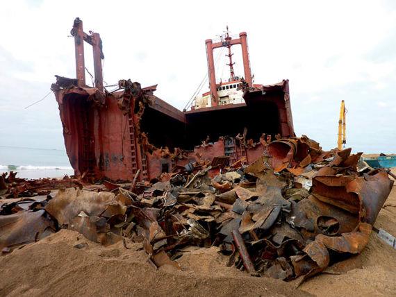 Wreck of the TK Bremen, january 2012