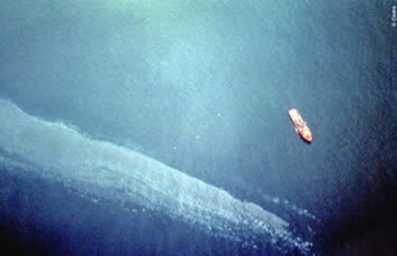 Nappe de pétrole provenant du Haven