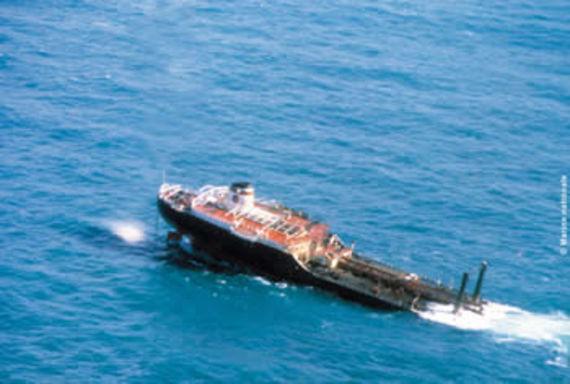 La partie arrière du Tanio (Source :Marine nationale